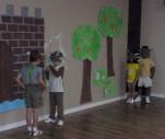 4 masked kids