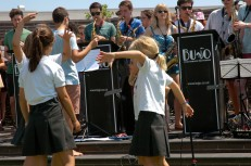 girls dancing in circle