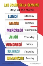 days of the week fr
