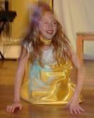 grease girl in yellow