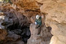 d under rock ledge